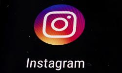 The Instagram app logo is displayed on a mobile screen in Los Angeles.