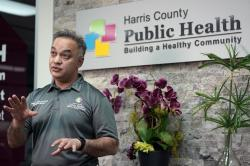Harris County Public Health Executive Director Dr. Umair Shah talks about contact tracing and the recent spike in COVD-19 cases in Harris County, Thursday, June 25, 2020, in Houston