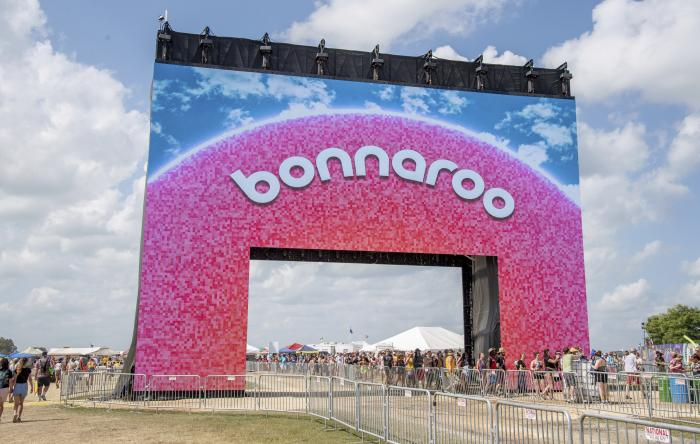 The new Bonnaroo arch appears at the Bonnaroo Music and Arts Festival.