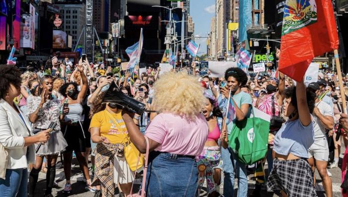 The Trans March on Broadway, Monday, September 6, 2021