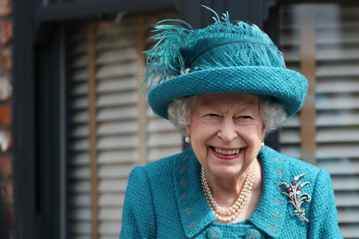 Britain's Queen Elizabeth visits the set of the long running television series Coronation Street, in Manchester, England.