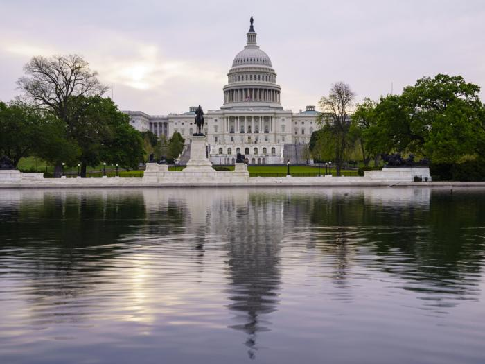 This April 28, 2021, file photo shows the U.S. Capitol building in Washington